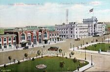 "Photo 1933 Vancouver B.C. Canada ""Union Station"""