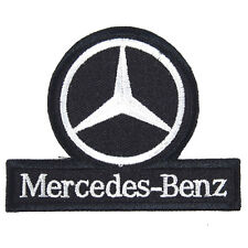 Mercedes Benz Embroidered Patch Applique Embroidery Emblem Mark 75x60mm Black