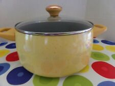 "PAULA DEEN PAN~6 QUART COVERED STOCK POT ~ ""BUTTER"" YELLOW SPECKLE~NEW"