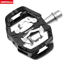 ZERAY ZP-109S MTB Road Bike Clipless Pedals with SPD Compatible Cleats-Black