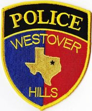Westover Hills Police Texas TX patch  NEW