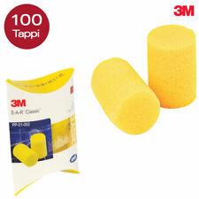 100 Tappi Orecchie per Dormire 50 Coppie 3M EAR Classic Antirumore Lavoro Studio