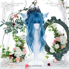 Hairpiece Blue Long Curly Hair Harajuku Lolita Everyday Lovely Cosplay Wig
