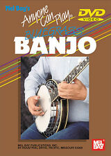 ANYONE CAN PLAY BLUEGRASS BANJO *NEW* BEGINNER DVD