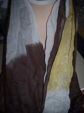 "Cejon Brown Fringed Sheer Scarf Wrap Shawl P04734 Brown 78"" $38"