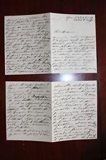 ✒ L.A.S. Amélie ERNST poétesse - longue lettre de 8 pages