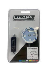 Chrome (NW) LED Light Base for Poppy Style Air Fresheners 12/24v - 7 Colours