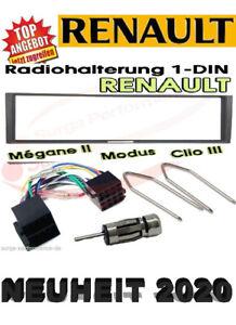 Radio Ein Bauset Renault Megane Scenic Modus Clio Noir Incl.