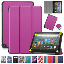 For Amazon Kindle Fire HD 8 Plus 2020 (10th Gen) Smart Leather Folded Case Cover