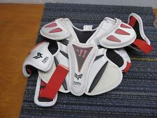 Warrior Youth Rabil Next Lacrosse Shoulder Pads, White/Red/Black, Rbnxtsp-Whyxs