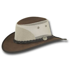 Barmah Hats Foldaway Bronco Cooler Leather Hat - Item 1062