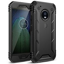 Poetic Revolution Series [Heavy Duty] Protection Case For Moto G5 Plus BLK