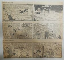 """(312) """"Li'l Abner"""" Dailies by Al Capp from 1944 Size: 3 x 8 inches"""