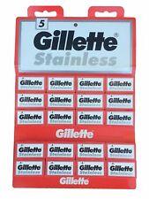100 Gillette Stainless double edge razor blades