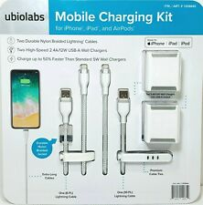 Ubiolabs Mobile Charging Kit Includes 2 Lighting Cables & 2 USB Wall Chargers