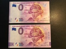 2 0-Euro-Scheine, Bonn Geburtsstadt Ludwig van Beethoven, 2020-1