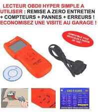 LECTEUR OBD TRES SIMPLE! RAZ TEMOINS MAINTENANCE - DEFAUTS - COMPTEURS98 EN 5MN