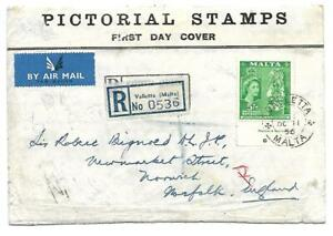 Malta (  57 Definitive issue ) Very Rare 5/- Definitive Issue on First Day Cover