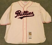 1936 Philadelphia Phillies Chuck Klein Home Jersey Mitchell And Ness Size 56