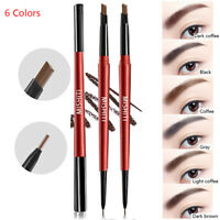 Waterproof Microblading Eye Brow Eyeliner Eyebrow Pen Pencil Brush Makeup Tools