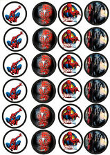 24 Muffin & Cupcake Aufleger  Oblate - Fondant Spiderman C1