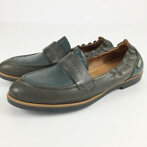 Pikolinos Womens Sz 37 Santorini Loafers Slip On Two Tone Leather Flats
