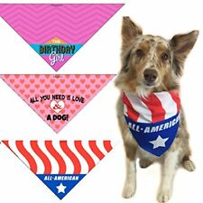 All You Need..., Birthday Girl , American Flag Dog Bandana- Med to Lg Dogs- 208