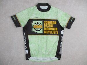 Primal Men's Medium Cycling Jersey Sonoran Desert Mountain Bicyclists 3 Pocket