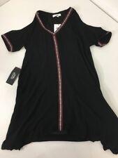JACK BY BB DAKOTA WOMEN'S ARIK HIGH LOW COLD SHOULDER DRESS BLACK SM NWT