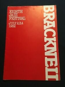 The 8th Bracknell Jazz Festival Programme 1982 with changes insert