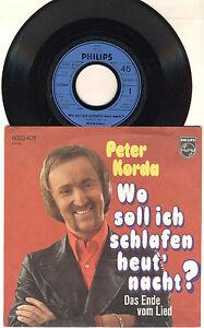 """7"""" Schallplatte Peter Korda - Wo soll ich schlafen heut' nacht?"""