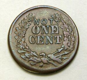 USA Not 1 Cent  / Indian Head 1863 Civil War Token - Copper - VF+ - 253 *