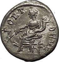 SEPTIMIUS SEVERUS 194AD Emesa mint  Ancient Silver Roman Coin Fortuna i53959