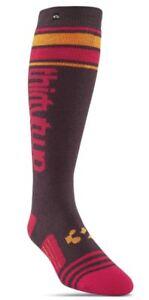 ThirtyTwo STRIPE Womens Acrylic Performance Blend Socks S/M Burgundy NEW