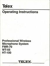 Lot of 2 Telex Wireless Microphone System Operators Manuals - 1987