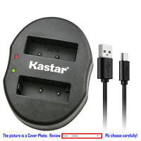 Kastar Battery Oval Dual Charger for Olympus BLS-5 & Olympus E-PL8 EPL8 Camera