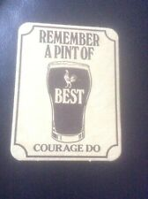 AUTHENTIC VINTAGE CARDBOARD BEERMAT COASTER COURAGE BEST COCKNEY RHYMING SLANG