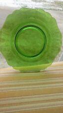 "Cambridge Glass - #3400/62 Dark Green Plates - 8-1/2"""