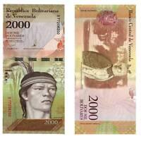 Pick 96 Venezuela 2000 Bolivares 2016  Unc. / 795549vvv