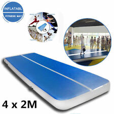 4x2M Inflatable Gym Mat Air Tumbling Track Gymnastics Cheerleading Pad+Pump s