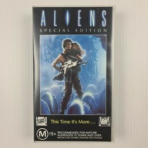 Aliens Special Edition VHS Tape - Sigourney Weaver - TRACKED POST