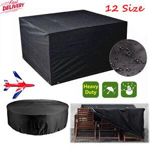 UK Heavy Duty Waterproof Garden Patio Furniture Cover Outdoor Large Rattan Table
