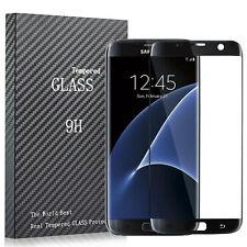 Vidrio templado sin burbujas Negro Protector de pantalla para Samsung S7 BORDE NEGRO
