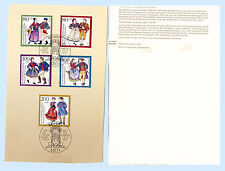 Germany 1993 Regional Dress B751-75 SemiPost First Day Cover FDC Souvenir Card