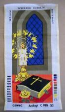 Vintage Unworked Needlework Canvas SCHIRMER GOBELIN Denmark CEWEC C 910-32 BIBLE