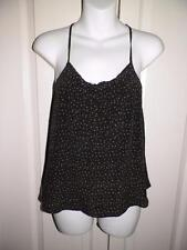 ANTHROPOLOGIE KIMCHI & BLUE SILK POLKA DOT Racer Back Tank Top XS X Small