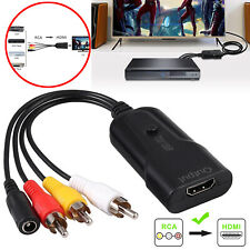 1080P Rca to Hdmi Composite Cvbs Video Audio Converter Cable Adapter For Vhs Vcr