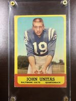 1963 Topps JOHN UNITAS Card Baltimore Colts #1 EX+ #1