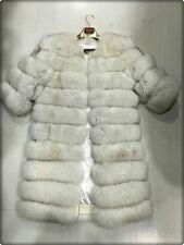 100% Luxus Echt Pelz Fuchs Fell Mantel Luxus Coat Moderne Jacke