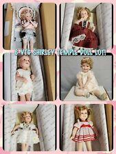 New listing 6 Vtg Htf Shirley Temple Danbury Mint Doll Lot All New In Box W/ Original Boxes